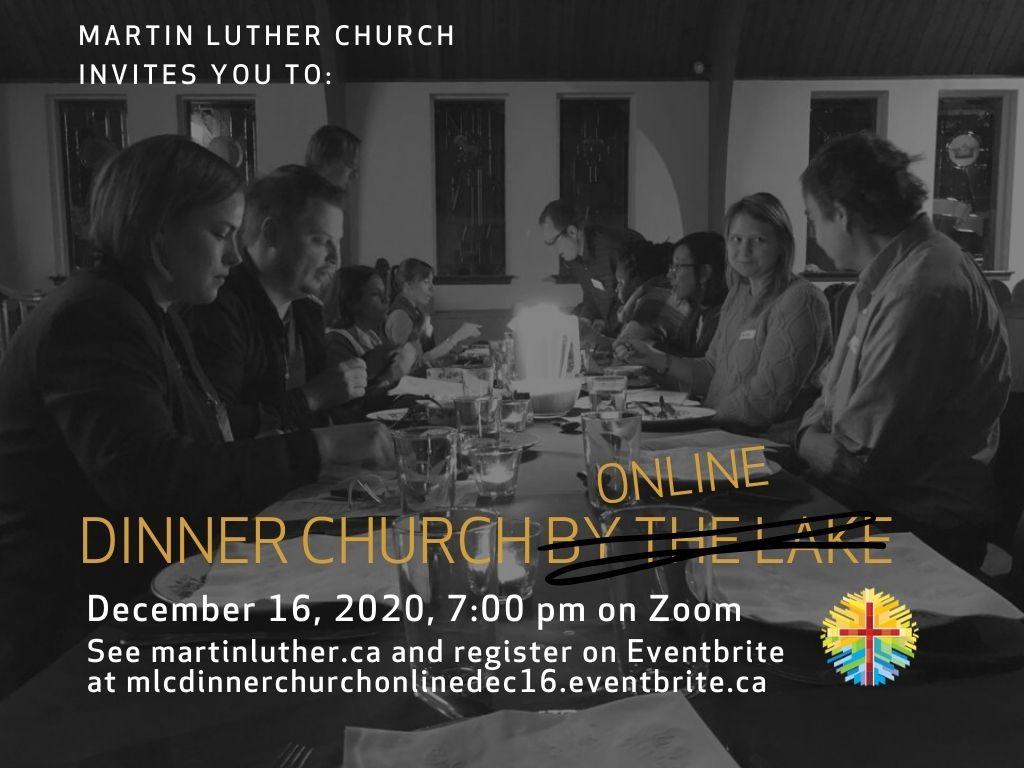 Dinner Church Invitation Poster For Dec 16 -2020