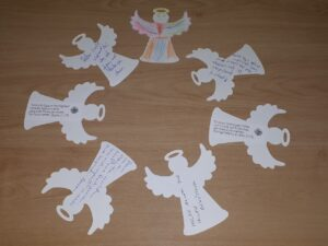 2020 White paper Angel Ornaments recd back in postal mail