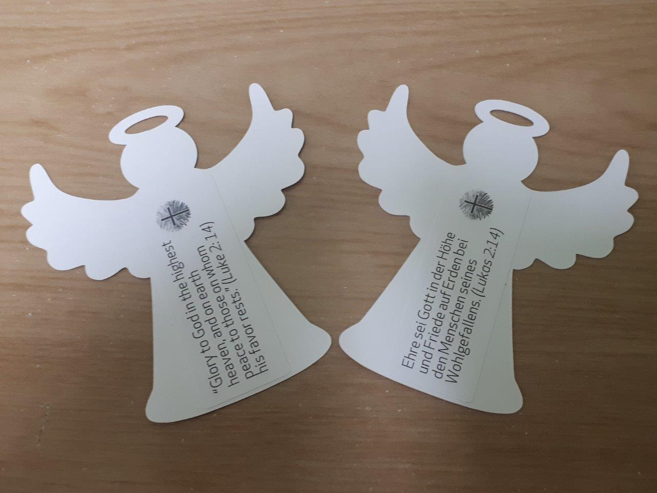 2020 White Paper Angel Ornaments Sent By Office By Postal Mail