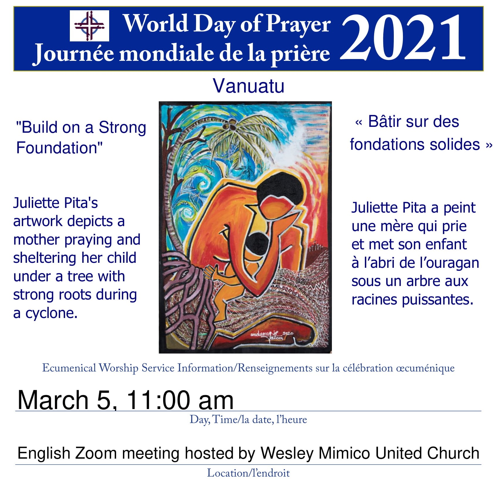 World Day Of Prayer, March 5, 2021 At 11:00 Am On Zoom