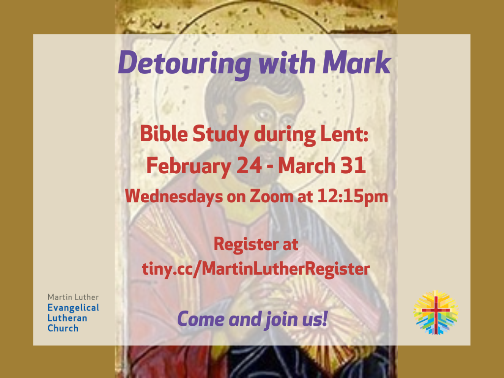 Bible Study Detouring with Mark Invite poster