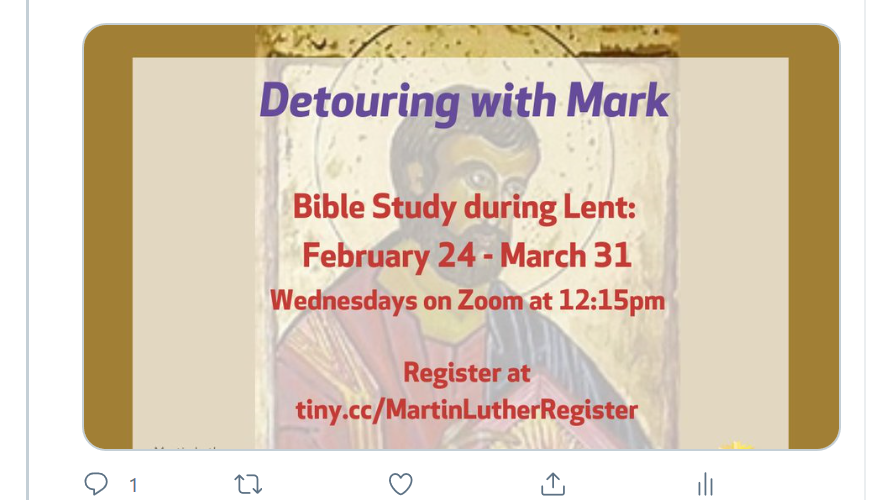 Bible Study Lent 2021