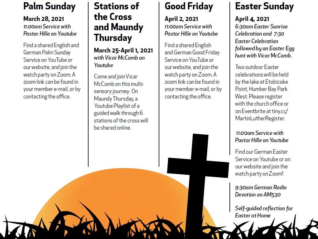Holy Week And Easter 2021 Schedule