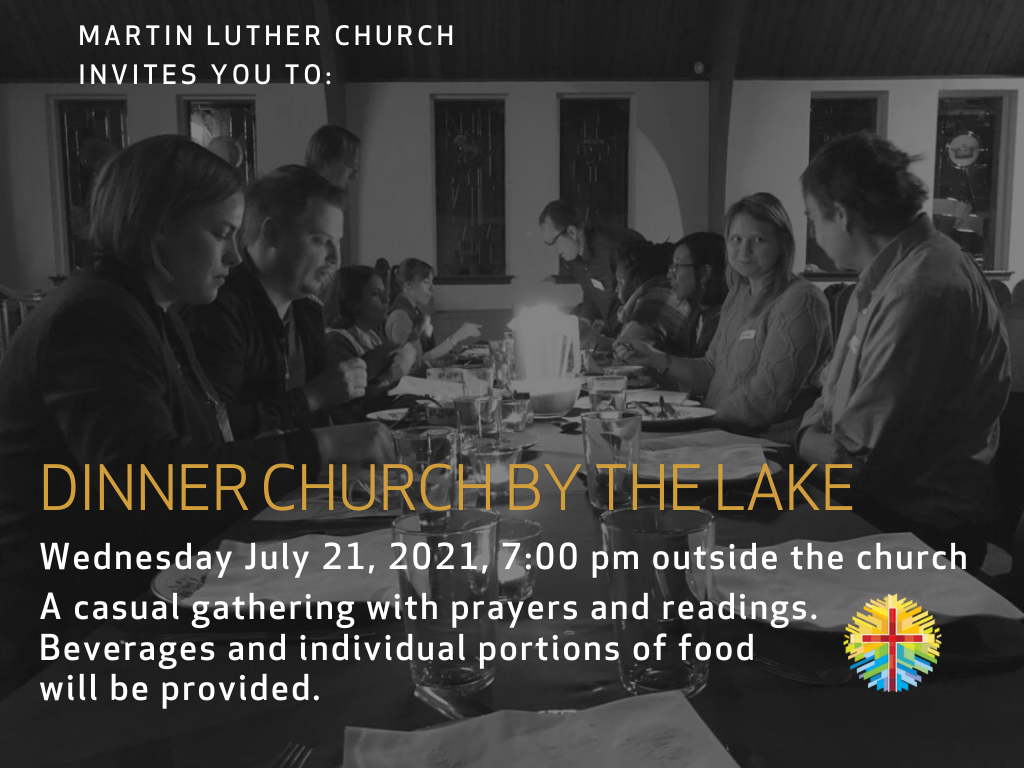 Dinner Church Meet Us OUTSIDE In Front Of Church On Wed Jul 21st