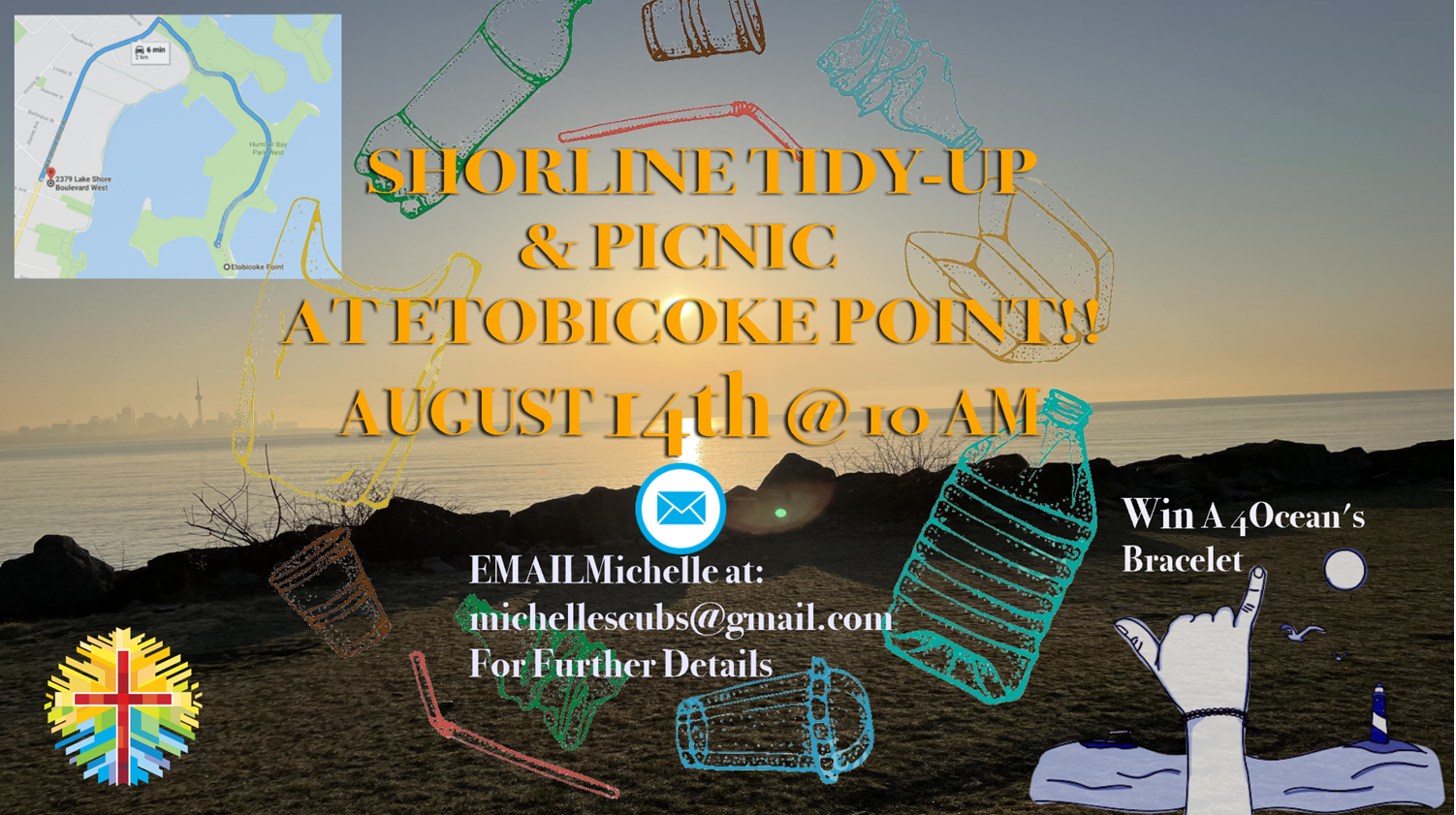 2021-08-14 Saturday Shoreline Tidy-up and Picnic