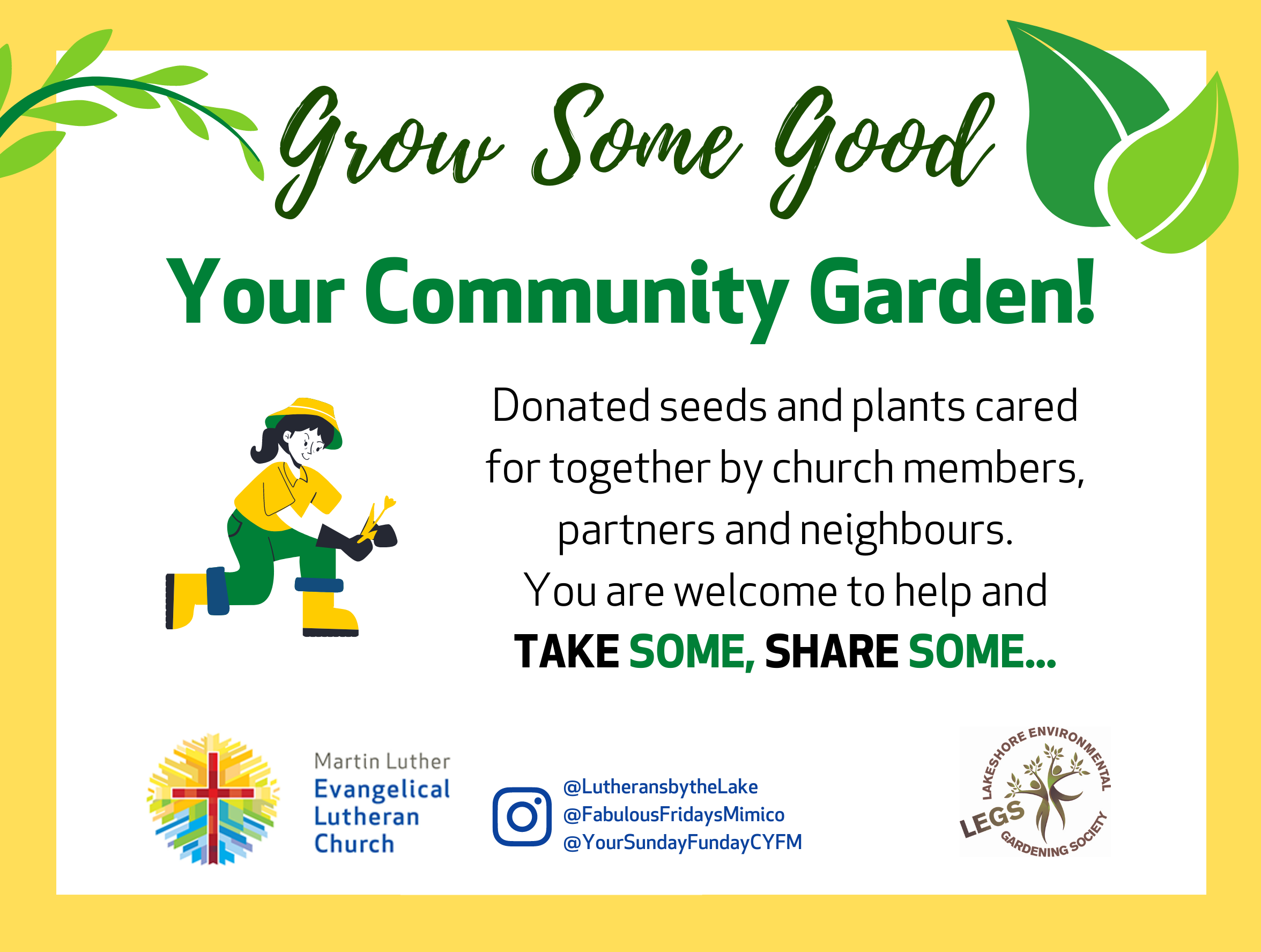 flyer for grow some good 2021 MLC
