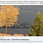2021 Etobicke Climate Action flyer for SHoreline Tidy-up
