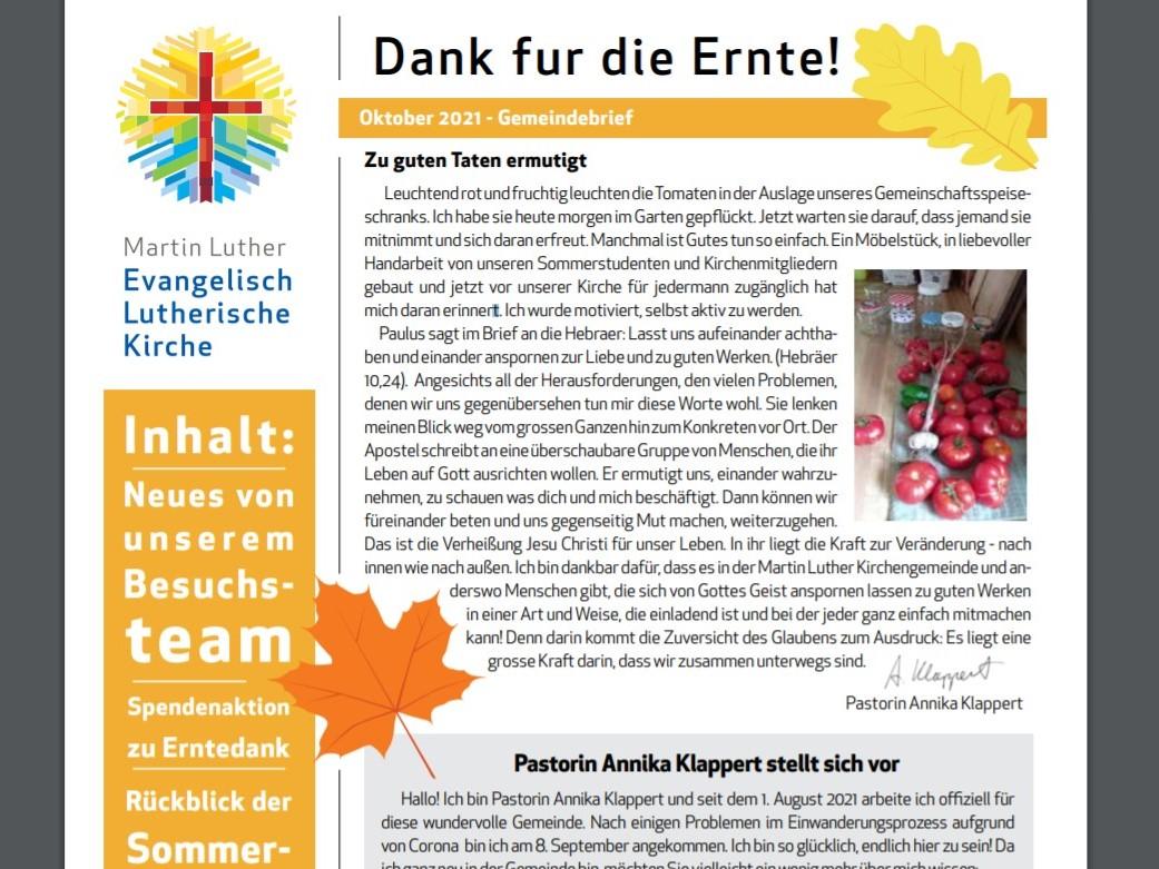 2021 Oktober Gemeindebrief 4x3 Blog